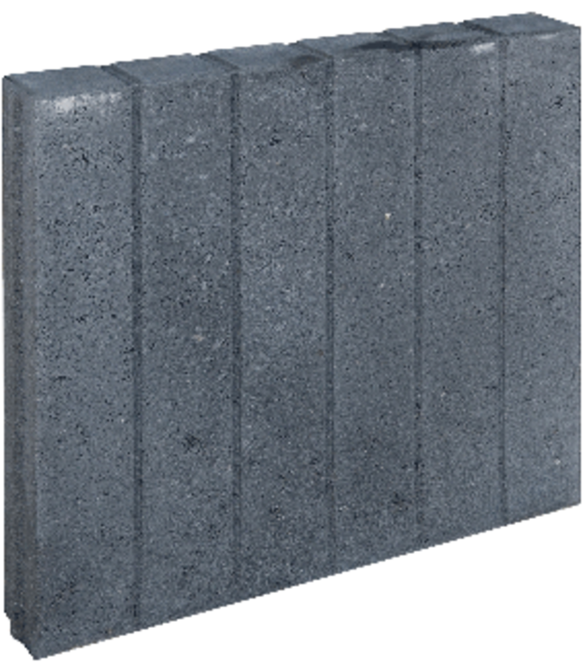 Gardenlux Blokjesband Zwart 8x50x50 cm