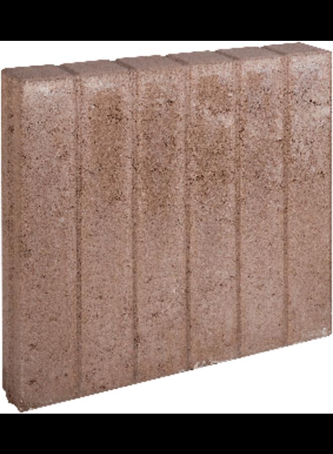 Blokjesband Bruin 8x50x50 cm