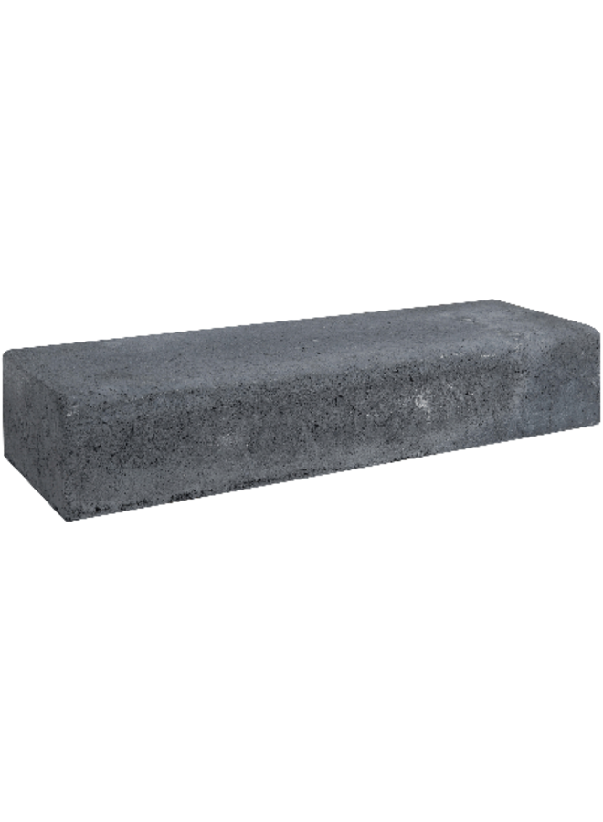 Retro Betonbiels Zwart 12x20x60 cm