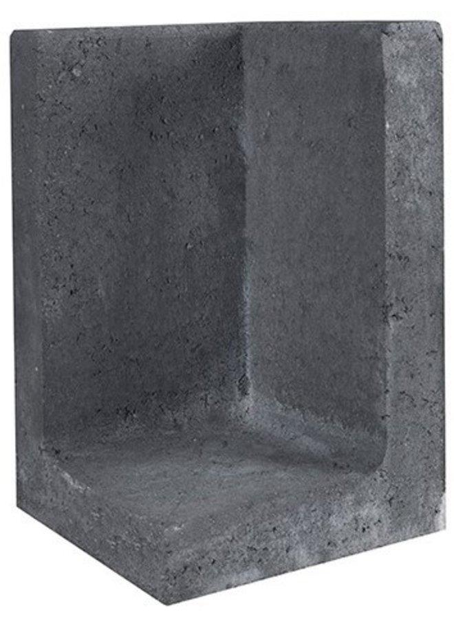 L-Element Hoek Zwart 30x30x50 cm