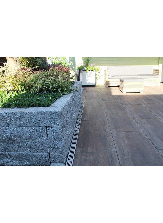 Rockline Walling 37,5x12,5x12,5 cm Granietgrijs