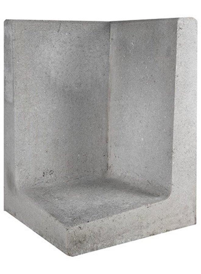 L-Element Hoek Grijs 40x40x60 cm