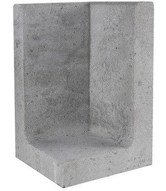 Gardenlux L-Element Hoek Grijs 30x30x50 cm