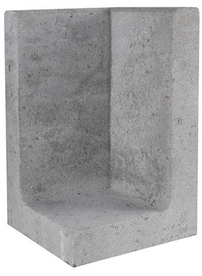 L-Element Hoek Grijs 30x30x50 cm