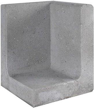 Gardenlux L-Element Hoek Grijs 30x30x40 cm