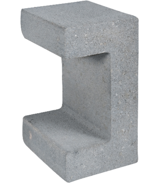 Gardenlux U-Element Grijs 15x20x30 cm