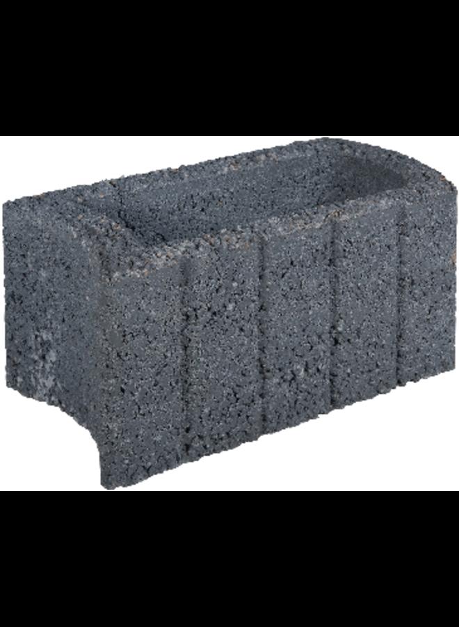 Ovalflor 40x21x20 cm Zwart