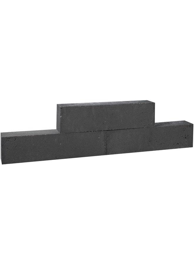 Forto Walling 60x10x10 cm Zwart