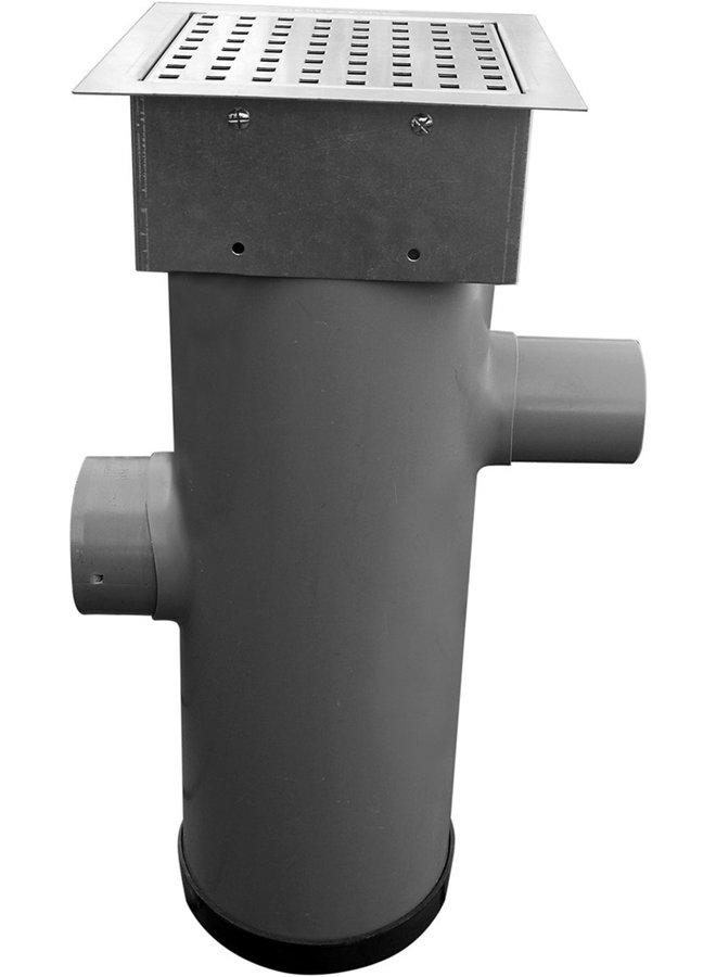 Hydroblob Zandvangput met loofscheider ZVP-MR-VZ 615H Ø20cm,in- en uitlaatØ100mm