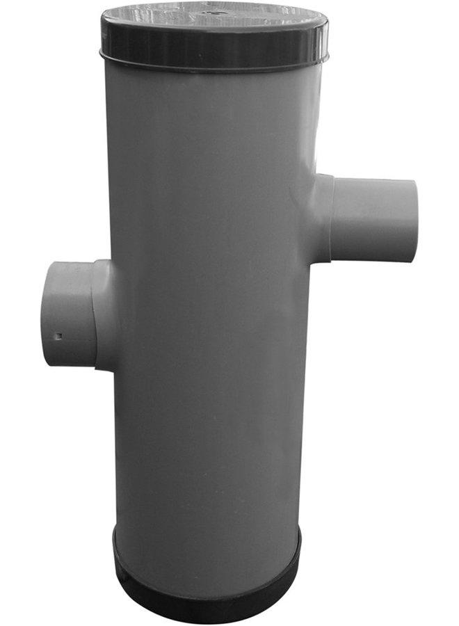 Hydroblob Zandvangput met loofscheider ZVP-PD 615H Ø20cm,in- en uitlaatØ100mm