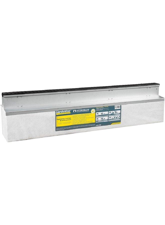 Hydroblob Slimline set grafiet incl. D45 unit 120x20x30 cm