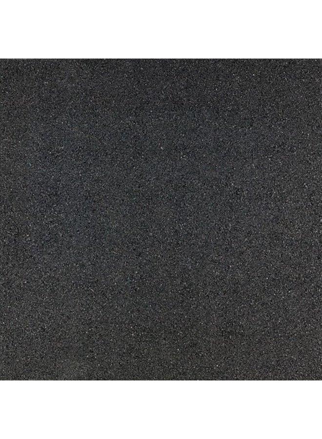 Rubbertegel Zwart 50x50x3 cm