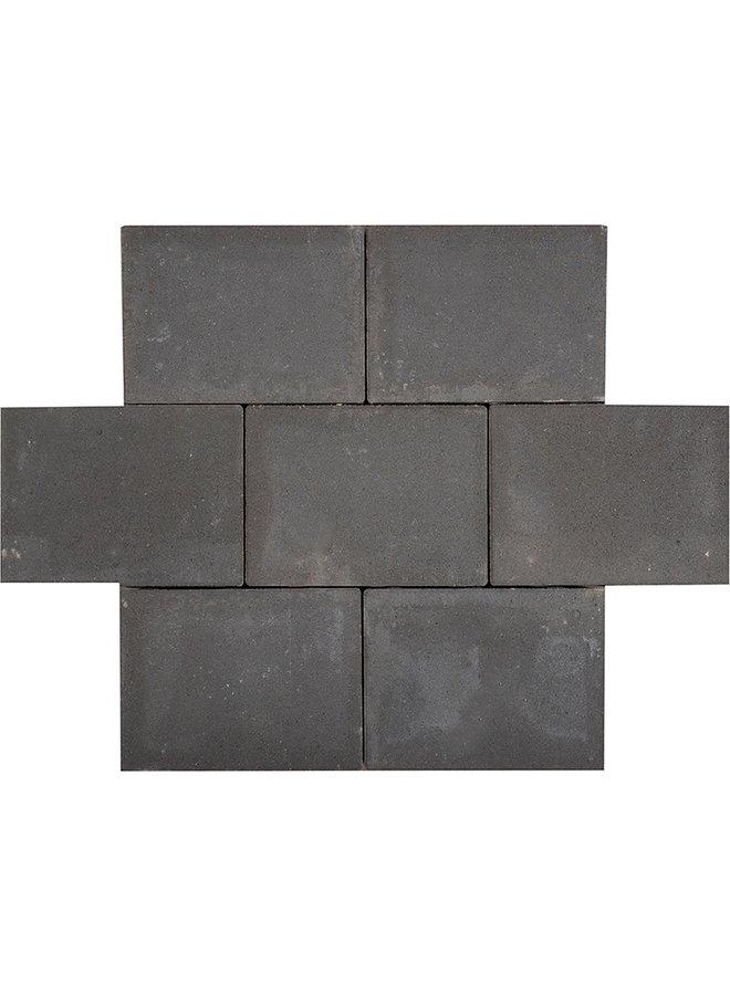 Sierbetonklinkers Abdijformaat 20x30x6 cm Zwart