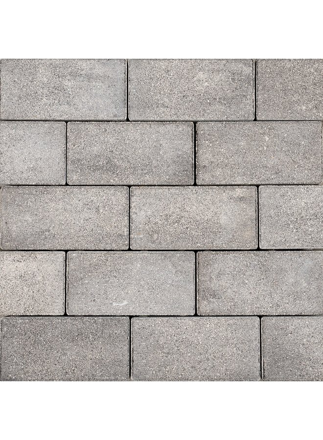 Sierbetonklinkers Keiformaat 10x20x6 cm Grijs/Zwart