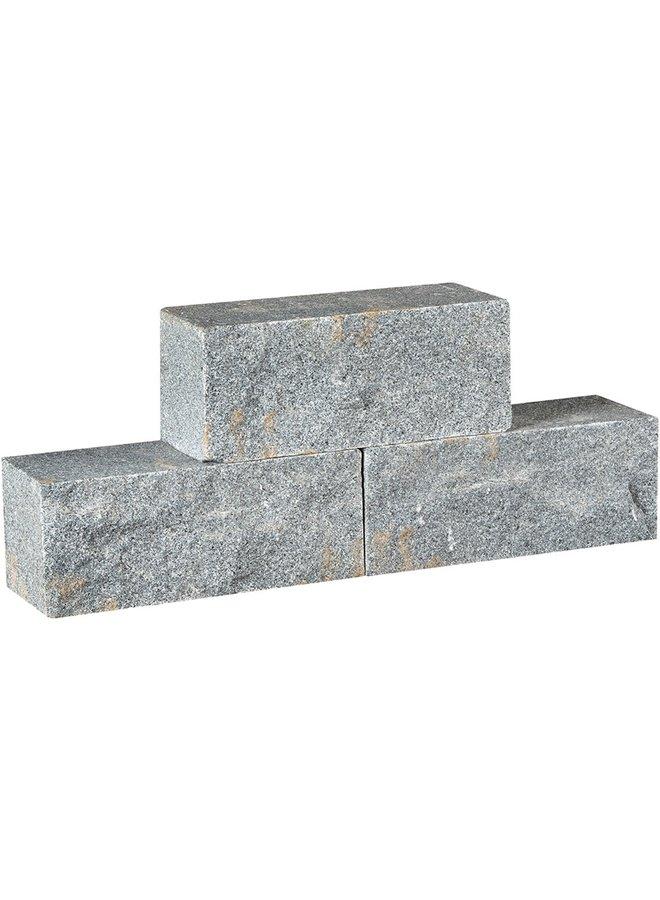 Muurelement Graniet Dark Grey 30x12x12 cm