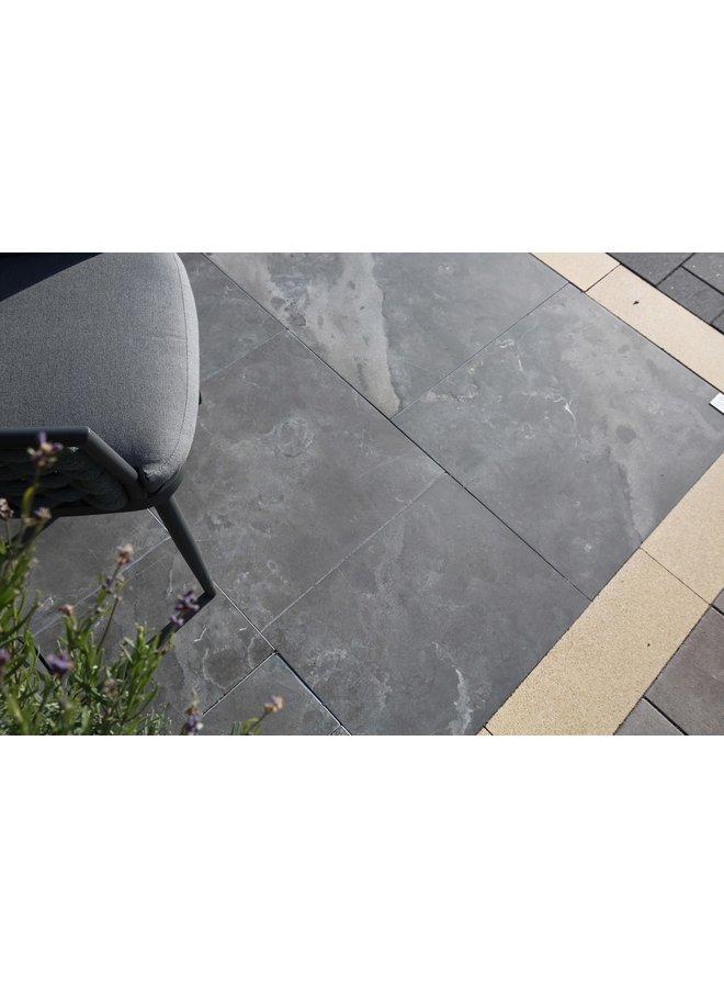 Asian Bluestone Getrommeld 100x100x3 cm (prijs per tegel)