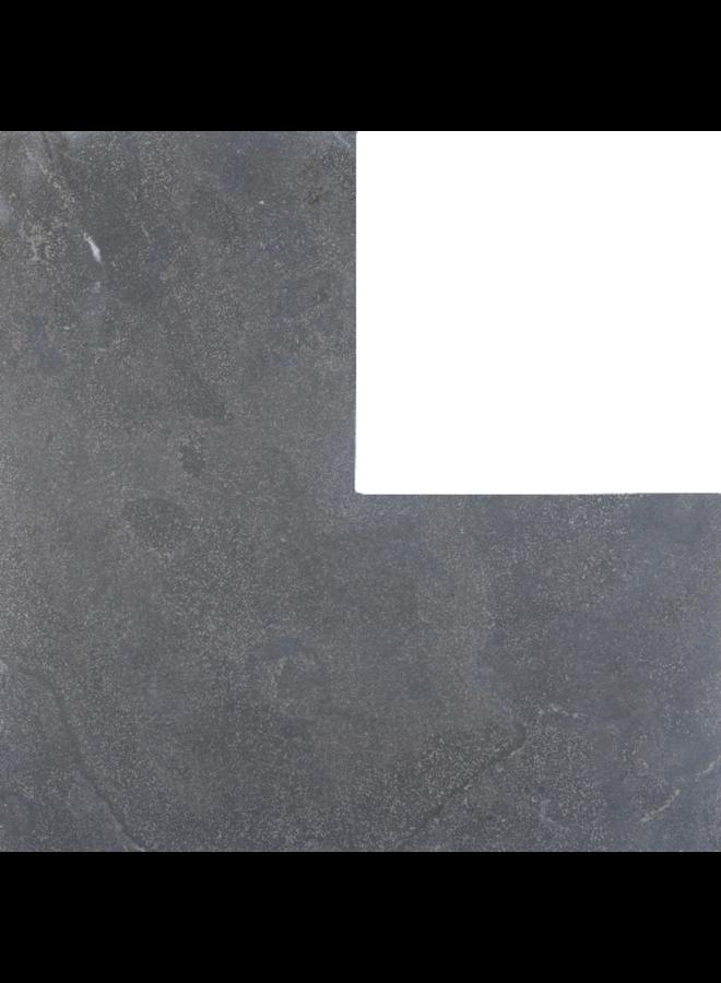 Asian Bluestone Vijverafdekrand Hoek 3x25x50/50 cm