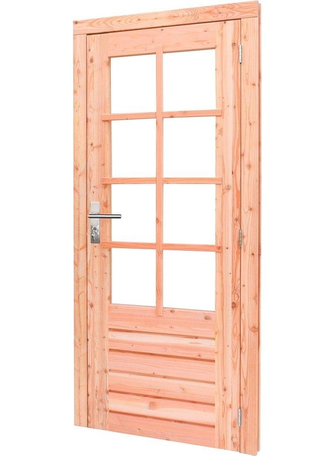Douglas Links draaiende enkele deur 8-ruits glas 90x201 cm