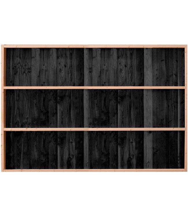 Gardenlux Buitenverblijf Wand B enkelzijdig rabat zwart geïmpregneerd 224x228,5 cm