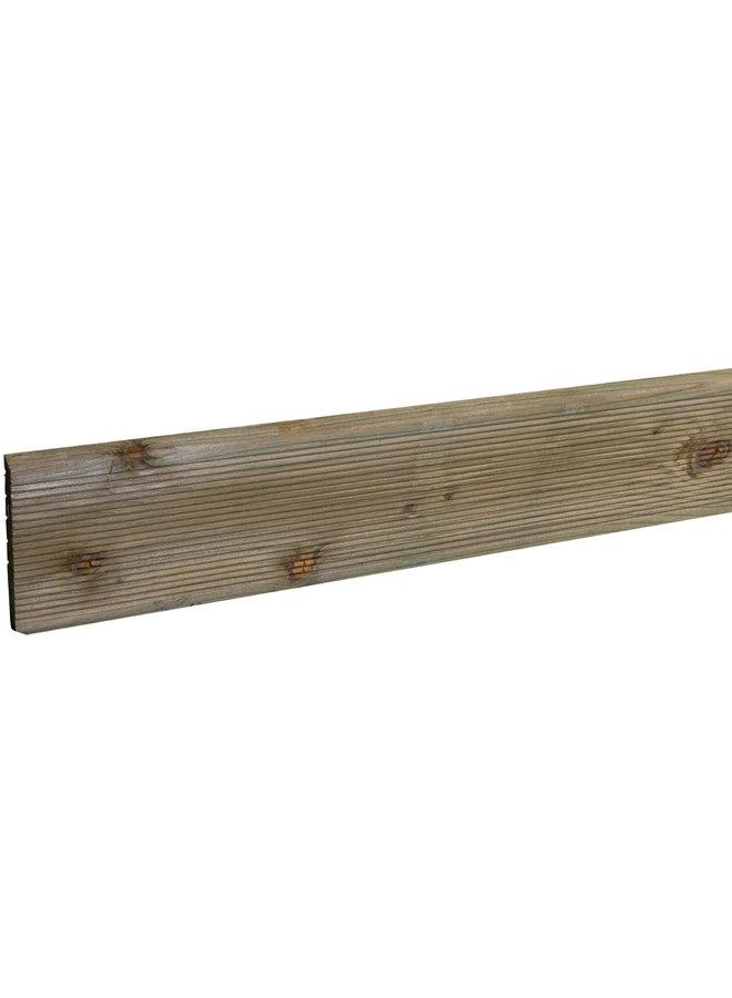 Vlonderplank Douglas Geprofileerd onbehandeld 2,4x13,8x400 cm