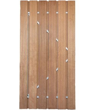 Gardenlux Hardhouten Deur met verstelbaar stalen frame 100x180 cm
