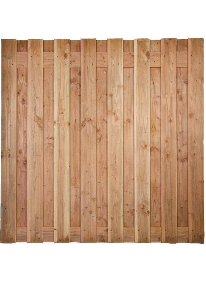Douglas Tuinscherm Geschaafd/Onbehandeld/Rvs Geschroefd Felt 17 planks 16mm 180x180 cm