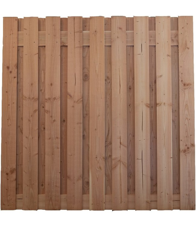 Gardenlux Douglas Tuinscherm Geschaafd/Onbehandeld/Rvs Geschroefd Alder 19 planks 16mm 180x180 cm