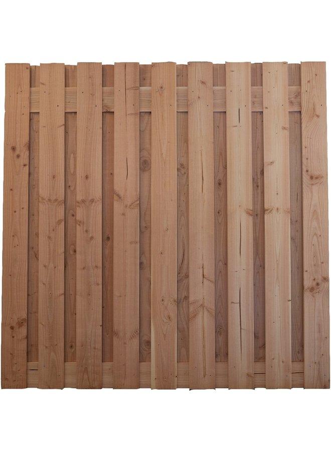 Douglas Tuinscherm Geschaafd/Onbehandeld/Rvs Geschroefd Alder 19 planks 16mm 180x180 cm