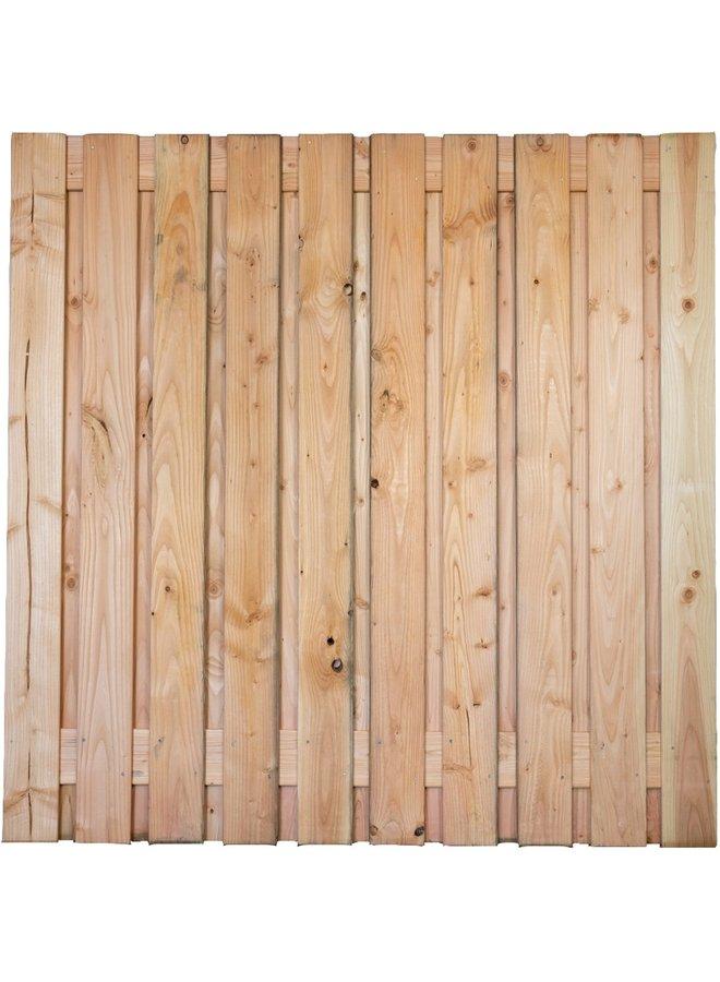 Douglas Tuinscherm Geschaafd/Onbehandeld/Rvs Geschroefd Lima 21 planks 16mm 180x180 cm