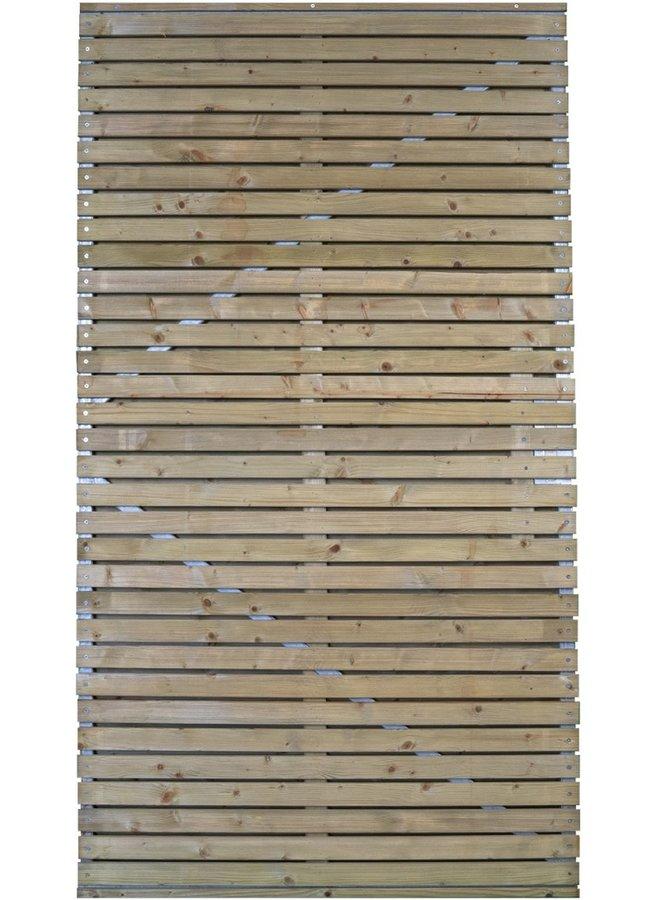 Grenen Spencer met verstelbaar stalen frame 100x180 cm