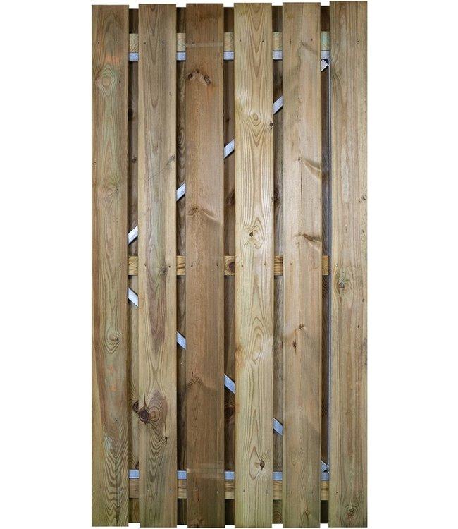 Gardenlux Grenen Deur / Poort met verstelbaar stalen frame 100x190 cm