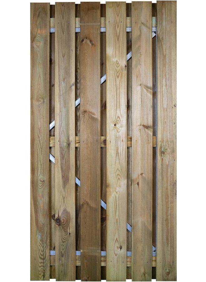 Grenen Deur / Poort met verstelbaar stalen frame 100x190 cm