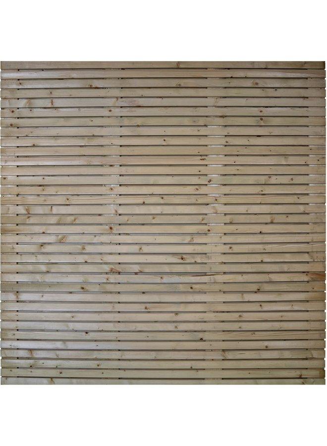 Grenen Tuinscherm Geschaafd/Rvs Geschroefd Spencer 180x180 cm