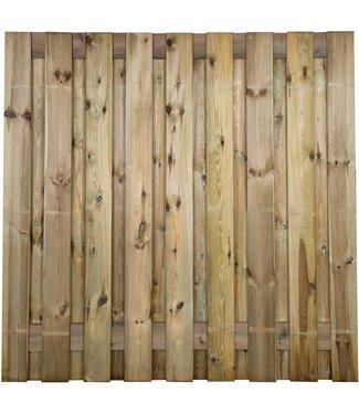 Gardenlux Grenen Tuinscherm Geschaafd/Rvs Geschroefd Idaho 19 planks/15mm 180x180 cm