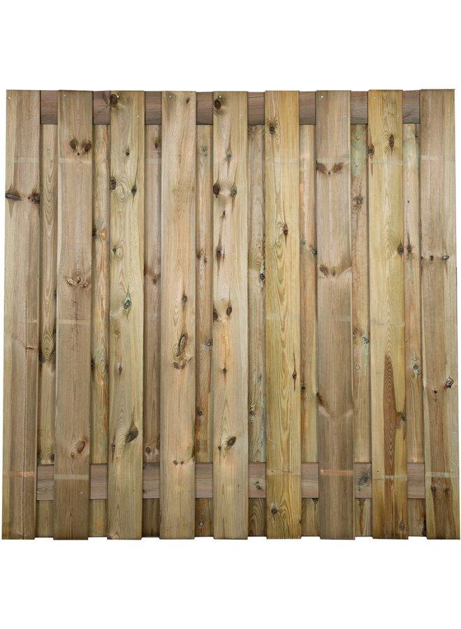 Grenen Tuinscherm Geschaafd/Rvs Geschroefd Idaho 19 planks/15mm 180x180 cm