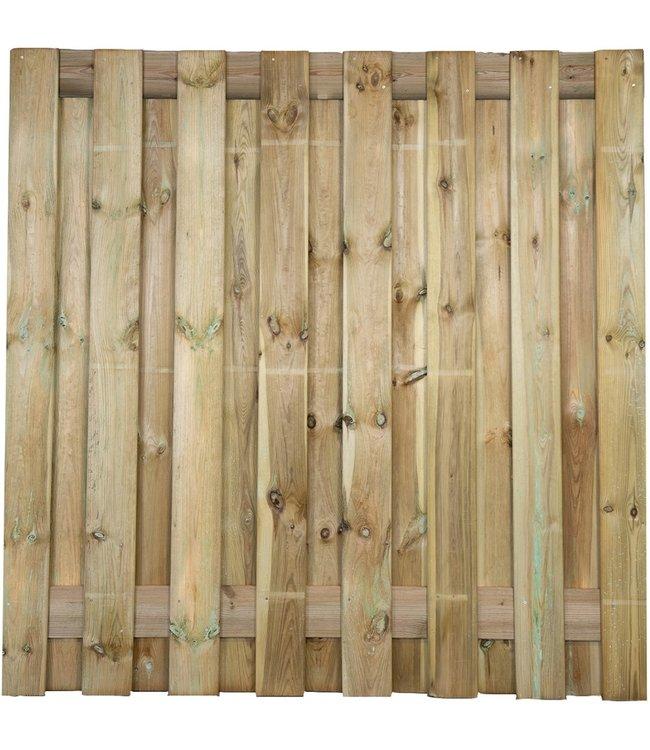 Gardenlux Grenen Tuinscherm Geschaafd/Rvs Geschroefd Colorado 17 planks/15mm 180x180 cm