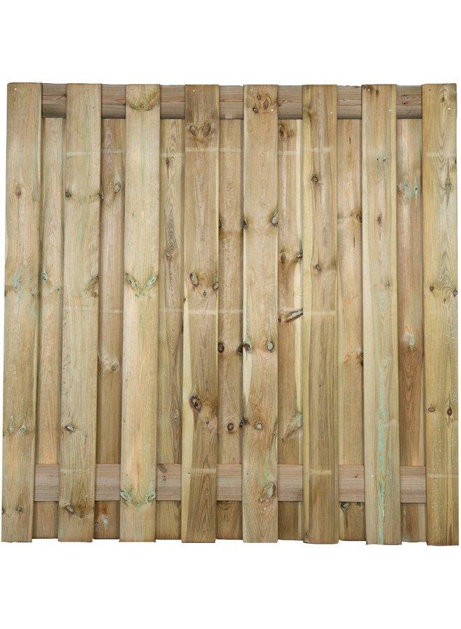 Grenen Tuinscherm Geschaafd/Rvs Geschroefd Colorado 17 planks/15mm 180x180 cm