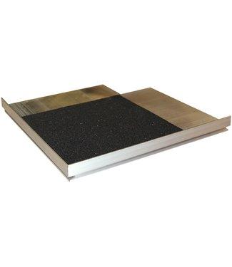 Randoplossing (voor tegeldragers) buitenhoek incl. rubberpad
