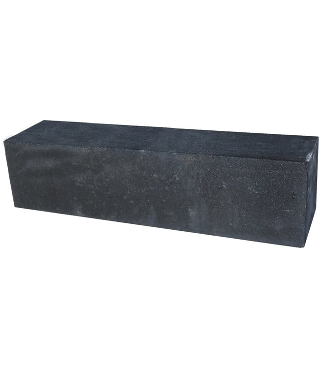 Palissadeblock 15x15x120 cm Zwart
