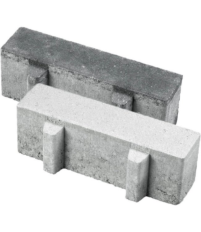 Aqua Brick 22% open 10x30x8 cm Zwart