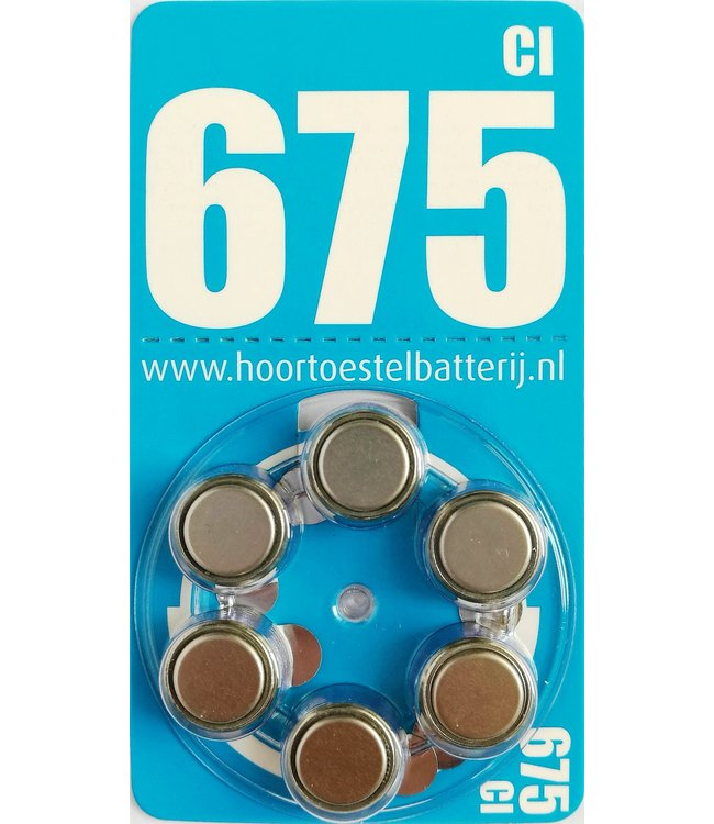 HoortoestelBatterij.nl Huismerk 675 CI