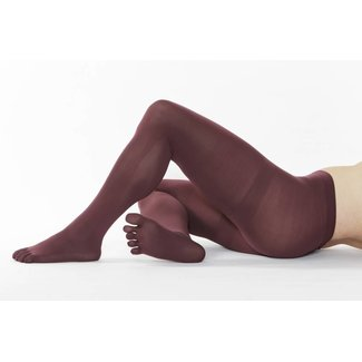 5-TOES.COM COLOUR-Tights, 110 DEN in: Wine Red