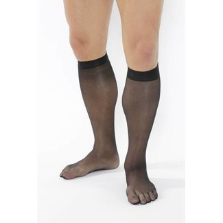 5-TOES.COM EXTRA-Fine Tights Knee-High, 19 DEN in: Black