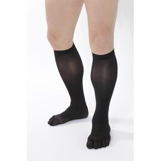 5-TOES.COM COLOUR-Tights Knee-High, 80 DEN in: Black