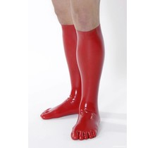 Latex Toe-Socks in Red