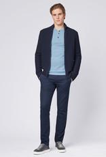 Boss Men Casual T-shirt Lange Mouw Lichtblauw