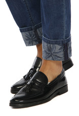 Mason's Jeans blauw met bloem print