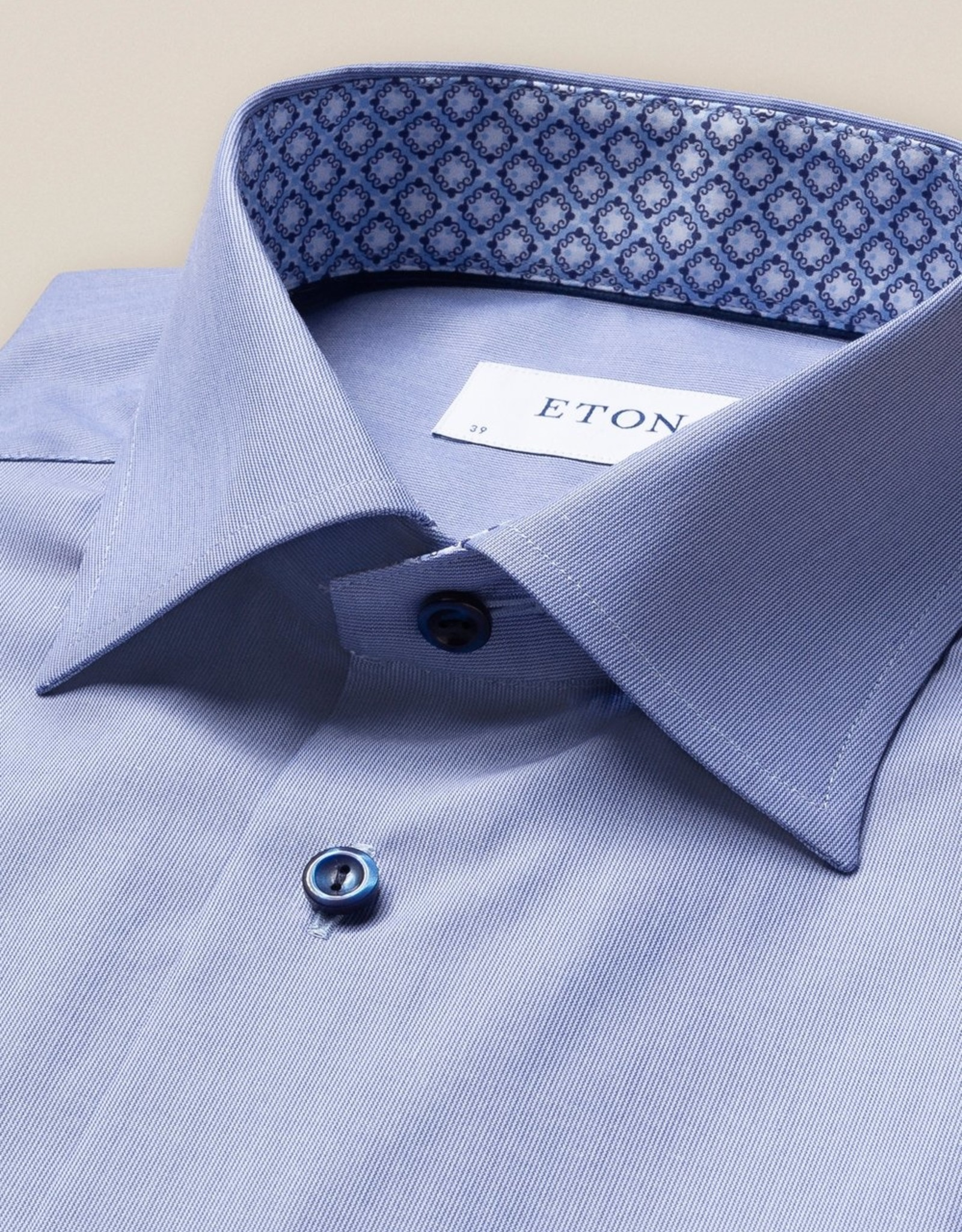 Eton Hemd blauw gestreept Eton