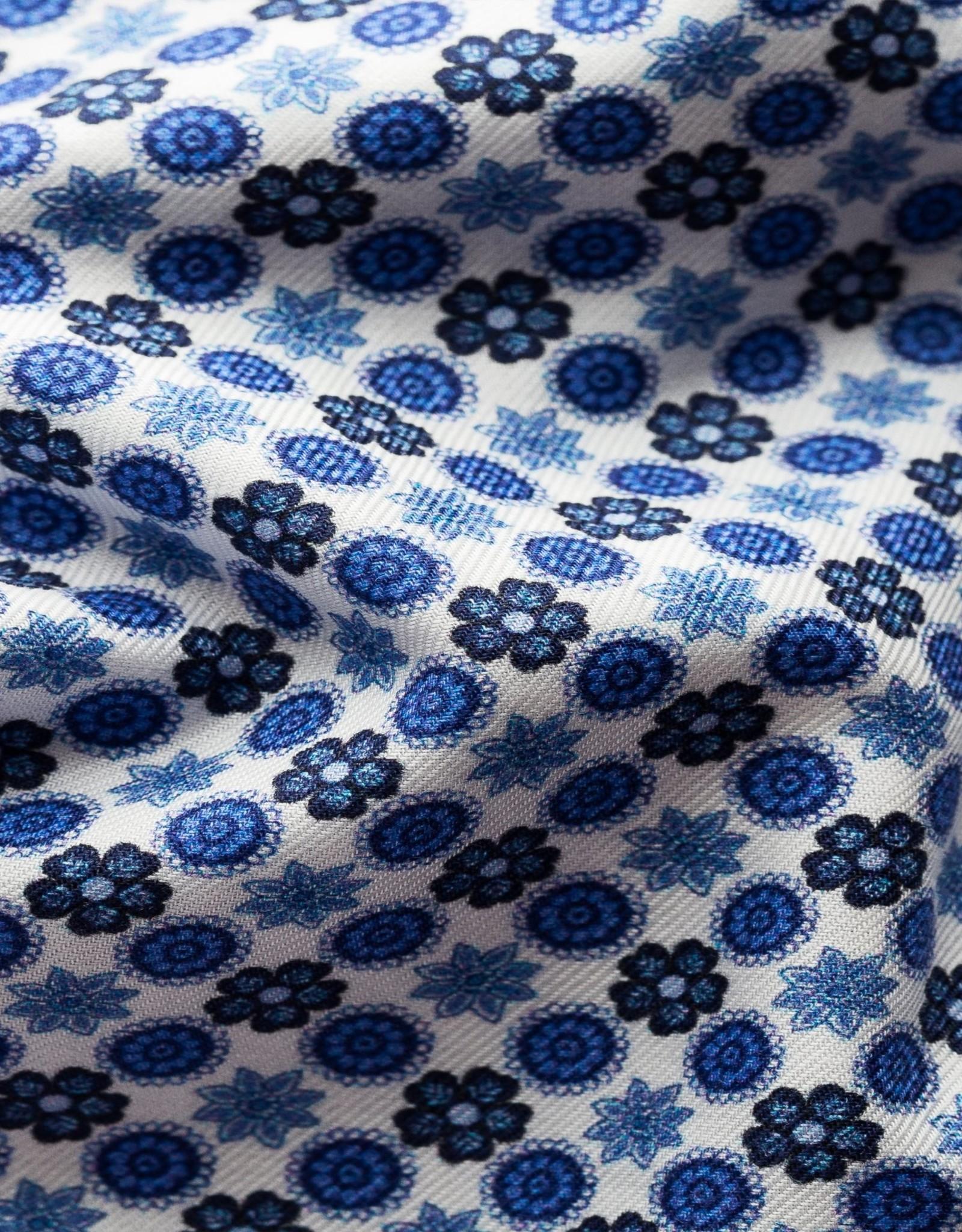 Eton Hemd printje blauw Eton