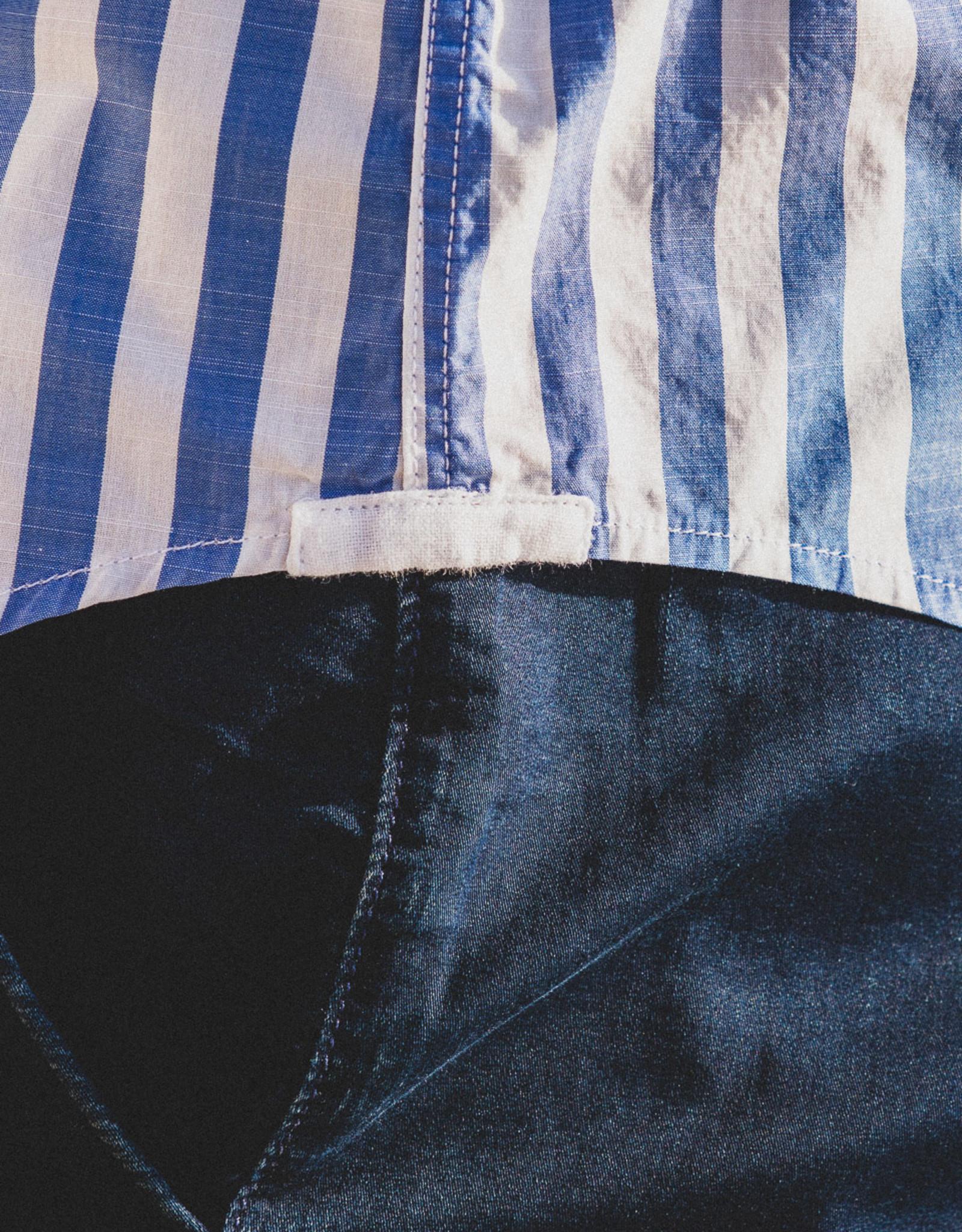 Serge Blanco Hemd gestreept met borstzakje